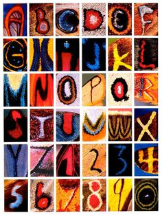This Alphabet Is Made Entirely From Letters Found On Butterfly Wings #alphabet