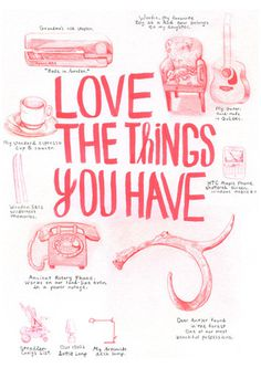 Favourite Things Art Print by Ben Weeks Easyart.com #inspiration #words #quote #print #design #art #poster #artprint