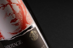 Sabotage Wine packaging label design by Javier Garcia on Behance