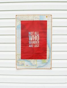 Not All Who Wander Are Lost Screen Print on by gnomesweeeetgnome #poster #screenprint #map