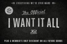 "The ""I-Want-It-All"" Kit #inspiration #design #retro #texture #vintage #logo #typography"