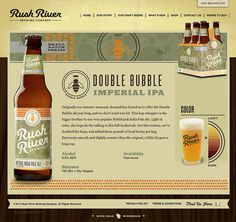 Rush River Brewing Website #site #beer #web