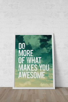 Mission: One Week of Awesomeness #quote #awesome #typography