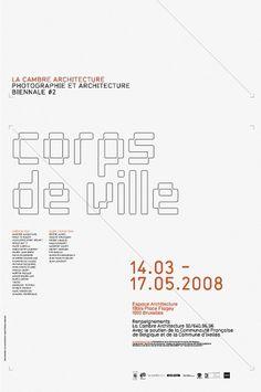 coast — Bienale La Cambre #identity #poster #typography