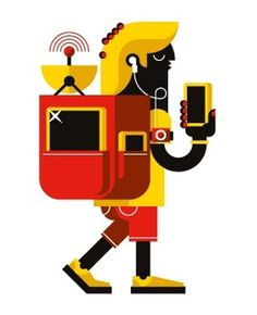 Wired Magazine [ITA] | How To on the Behance Network #illustration #character #goran #flashpacker