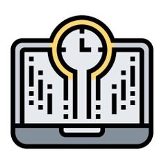See more icon inspiration related to time and date, Tools and utensils, electric, digital, laptop, tool, technology, computer, time and clock on Flaticon.