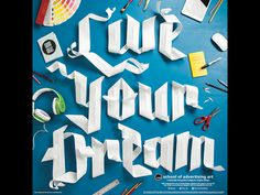 SAA Paper Type Poster Original: http://ift.tt/1lAFheI #typography #mixed media #illustration