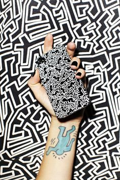 NASTY GAL Keith Haring #white #phone #black #cover #tattoo #keith #art #and #haring #nasty #gal