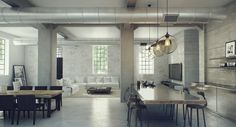 industrial lofts inspiration studio aiko 3 #design #interiors #home