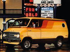 #classic #vintage #dodge #van #1970's