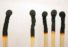 matchstick men by wolfgang stiller #dead #installation #men #burnt #morbid #matchstick