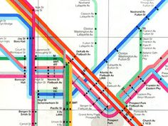 visualcomplexity.com | New York Subway Map (1972) #massimo #vignelli #map #subway #1972 #york #new