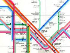 visualcomplexity.com | New York Subway Map (1972) #massimo #vignelli #map #subway #1972 #york #new