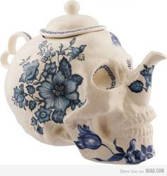 9GAG - Just for Fun! #teapot #skull #graphic