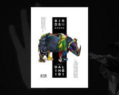 Affiches formats A3 et A4 réalisées pour la performance artistique d'Amine Bendriouich http://fabricevrigny.com/birds-of-ghana #graphic de