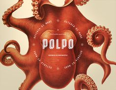 Polpo Restaurant #modern #color #bold #octopus #restaurant #elegant #custom #type