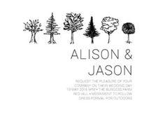 Paper Trees Wedding Set - Wedding Invitations  #paperlust #wedding #invitation #weddinginvitation #weddinginspiration #paper #design #letter