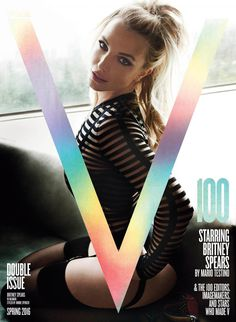 V100 STARRING BRITNEY SPEARS PHOTOGRAPHY MARIO TESTINO FASHION ROBBIE SPENCER TEXT V MAGAZINE