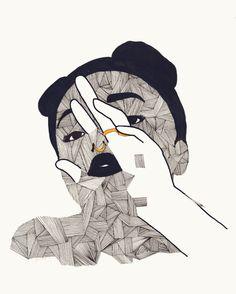 #drawing #woman #black