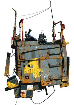 illustration, Ian McQue, sci fi, concept, machines