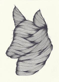 Art Sponge | A Blog Showcasing Inspirational Visual Art from Emerging Artists #hair #dog #drawing #mummy #justin bryannelson