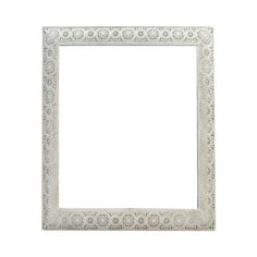Moroccan Cream Square Mirror, 61cm