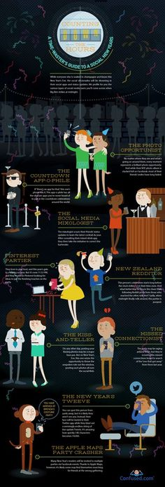 New year's social eve #new #infographic #years #media #social