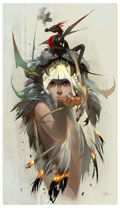Blood of the Dragon by JenZee on deviantART #dragon #girl