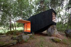 0-House On A Big Rock by Uhlik Architekti #cabin