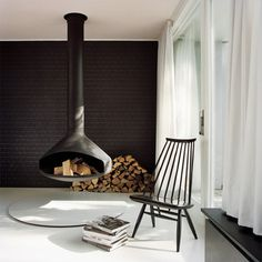 Atrium House by BFS Design image6 #fireplace