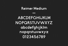 Reimer typeface #font #grotesque #geometric #typeface #typography