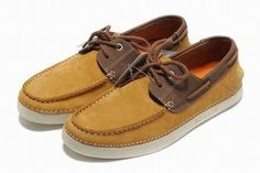 timberland mens earthkeepers 2 eye boat shoe yellow brown