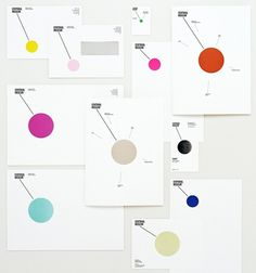 The Dot Marks the Spot - Brand New #branding #identity #geometry #circle #dot #system