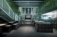 Platoon Kunsthalle by Platoon, Berlin office design #exhibition #pop up #temporary