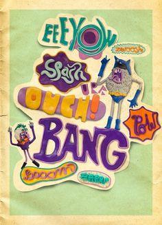 Zwoooosh on the Behance Network #illustration #handmade #clay #typography