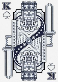King of Spades | Flickr - Photo Sharing! #card #illustration #vector #king