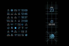 Apple Watch GUI Design #apple #layout #icons #grid #watch #face