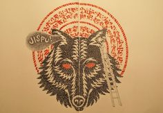 Domenico Romeo #wolves #calligraphy #illustrations #wolf