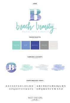 branding, beach branding, gold foil, pink and blue, logo, design, graphic design, portfolio, mood board