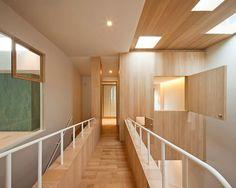Bear house wooden corridor #bears #toys #house #modern #teddy #art #bear