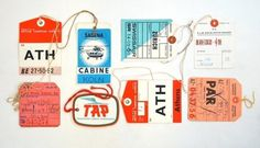 WANKEN - The Blog of Shelby White » Vintage Airline Tags #vintage #airline #baggage tags