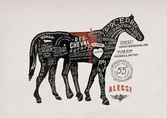 Des cheval poster on Behance #type #horse #tipography #caballo
