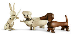 New Animals in the Ring #hippo #wood #kay #dachshund #rabbit #bojesen #toy