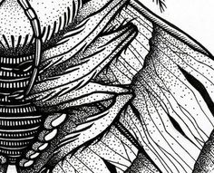 Moth\'s detail made by rotring.