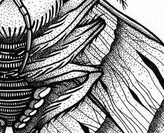 Moth's detail made by rotring. #moth #dots #insect #sodafromthehut #macro #detail #dot