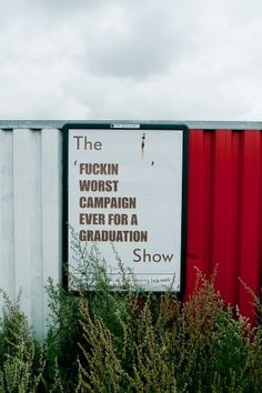 All sizes | The FUCKING WORST CAMPAIGN EVER FOR A GRADUATION Show | Flickr - Photo Sharing! #poster #photography