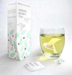 I love monday #origami #tea #green