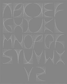 Ludd - Curvestitch Typography on Typography Served #typography #alphabet #letters