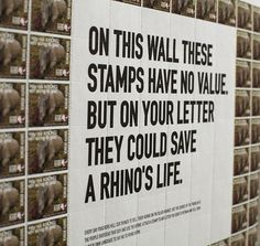 The Rhino Stamp Project #stamps #rhino #poster