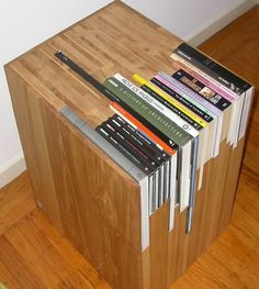 Custom Stacked Book Side Table by janedandy on Etsy #product #furniture #design